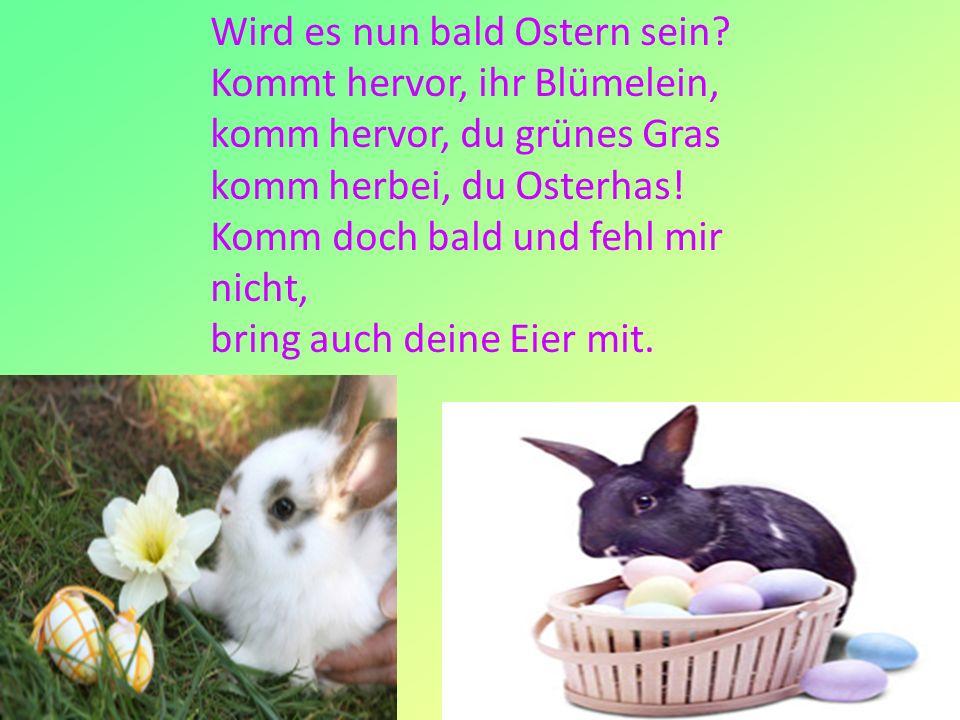 Wird es nun bald Ostern sein