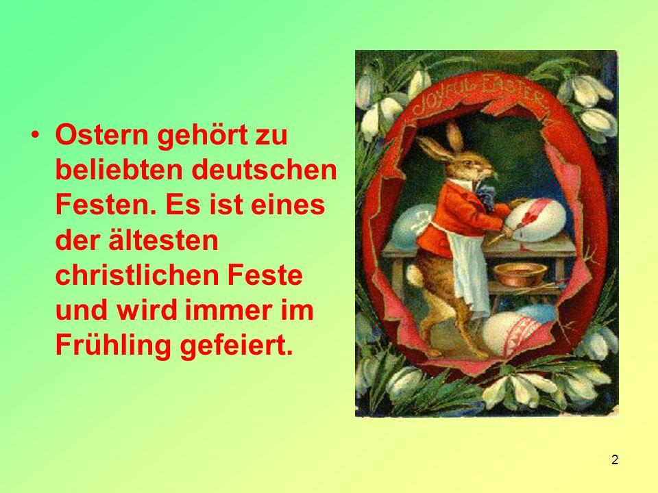 Ostern gehört zu beliebten deutschen Festen