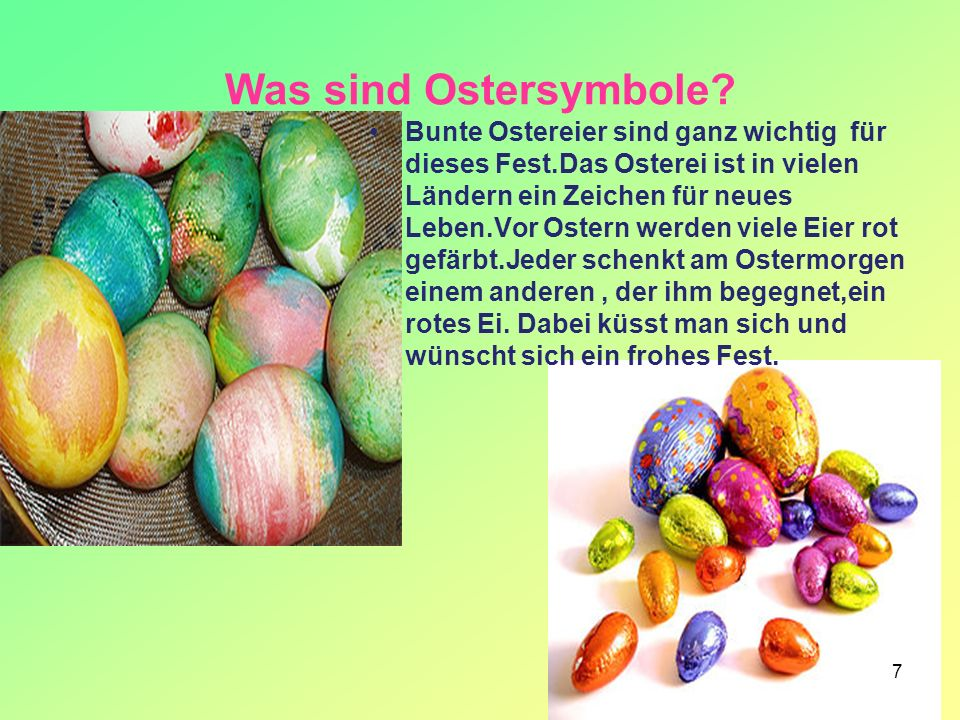 Was sind Ostersymbole