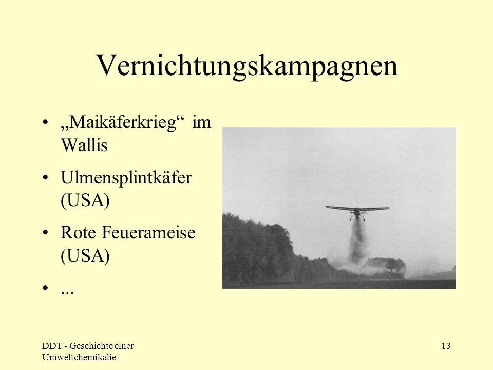 """DDT um 1950 UNO: """"Jedem Entwicklungsland seine DDT-Fabrik"""