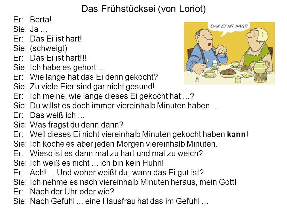 Das Frühstücksei (von Loriot)