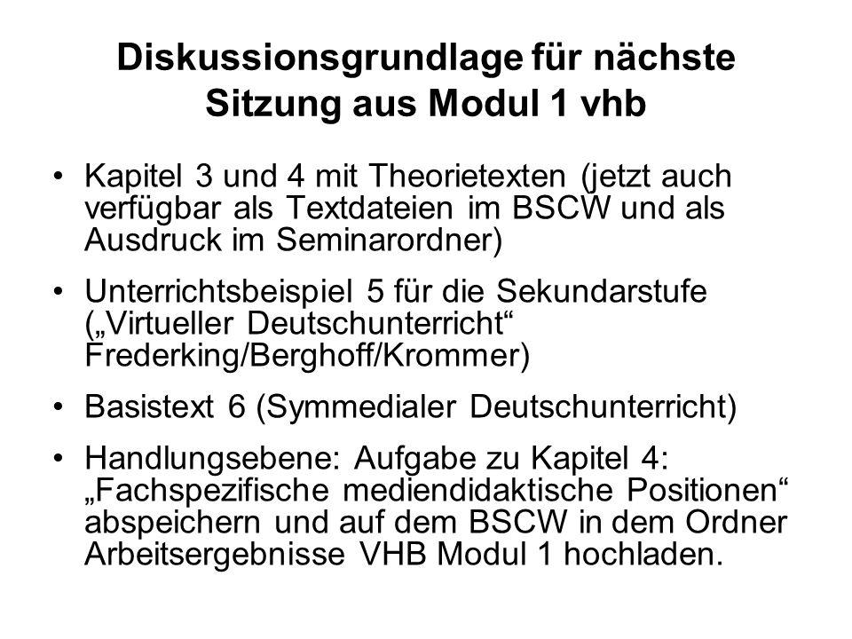 Diskussionsgrundlage für nächste Sitzung aus Modul 1 vhb