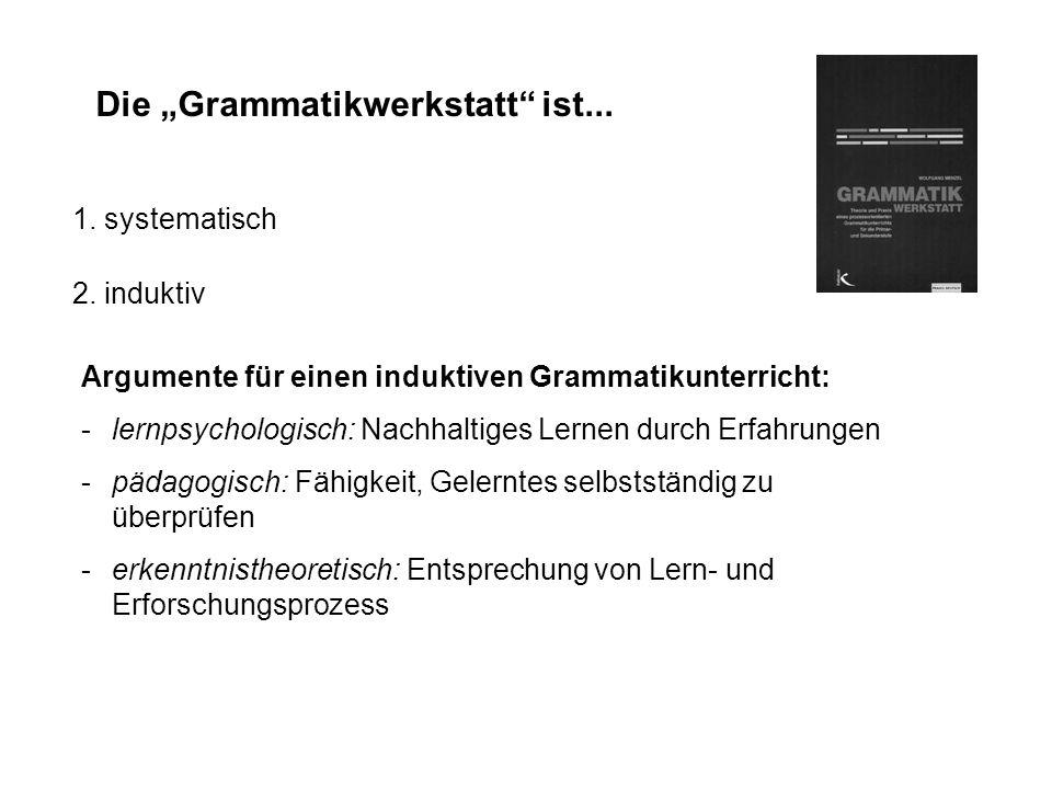 """Die """"Grammatikwerkstatt ist..."""