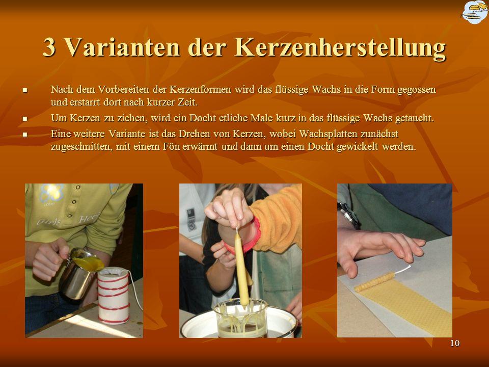 3 Varianten der Kerzenherstellung
