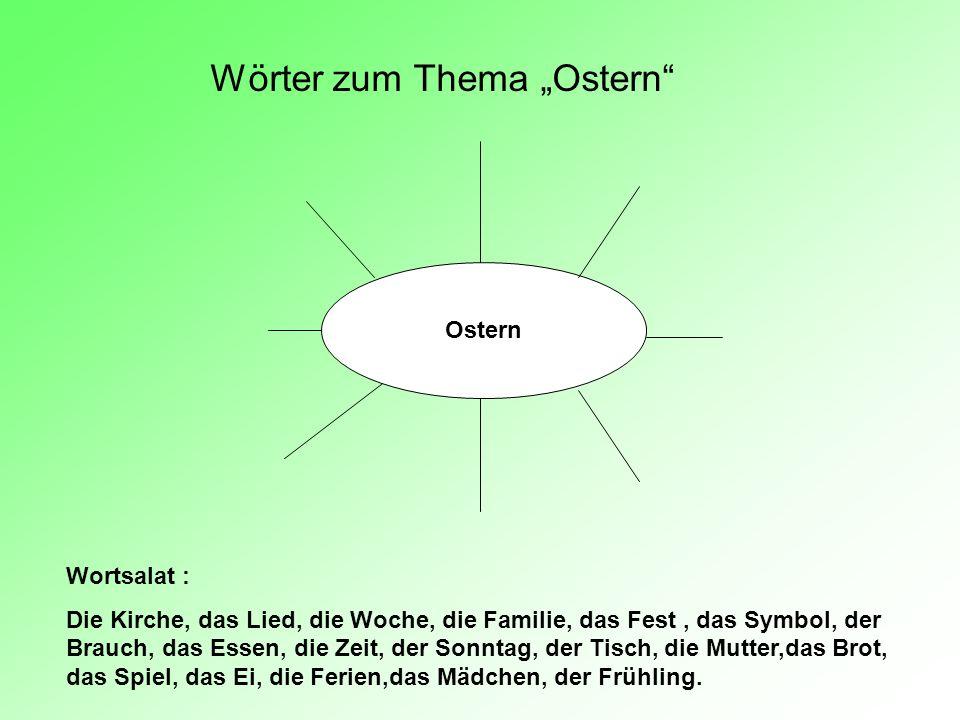 """Wörter zum Thema """"Ostern"""