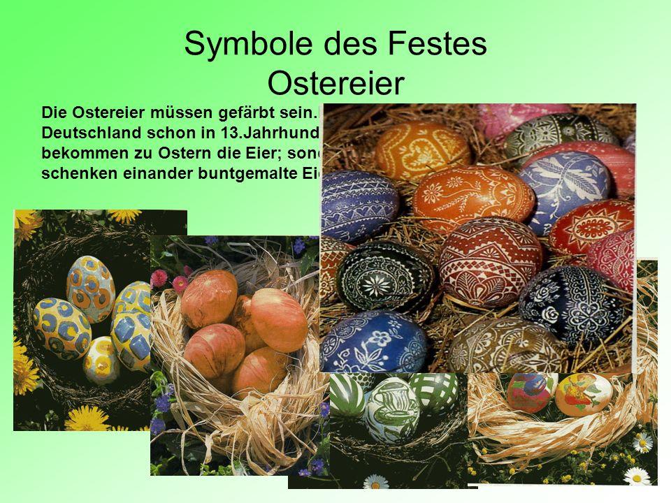 Symbole des Festes Ostereier