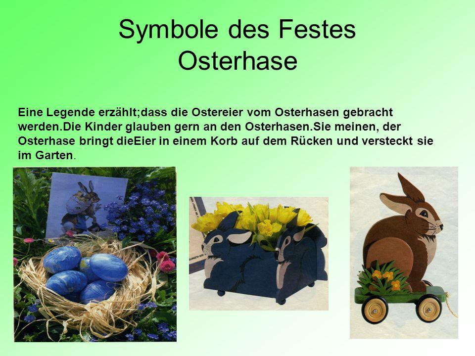 Symbole des Festes Osterhase