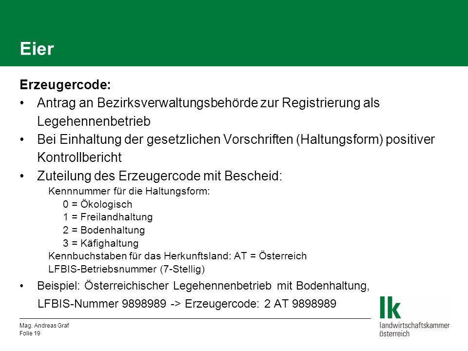 Eier Erzeugercode: Antrag an Bezirksverwaltungsbehörde zur Registrierung als Legehennenbetrieb.