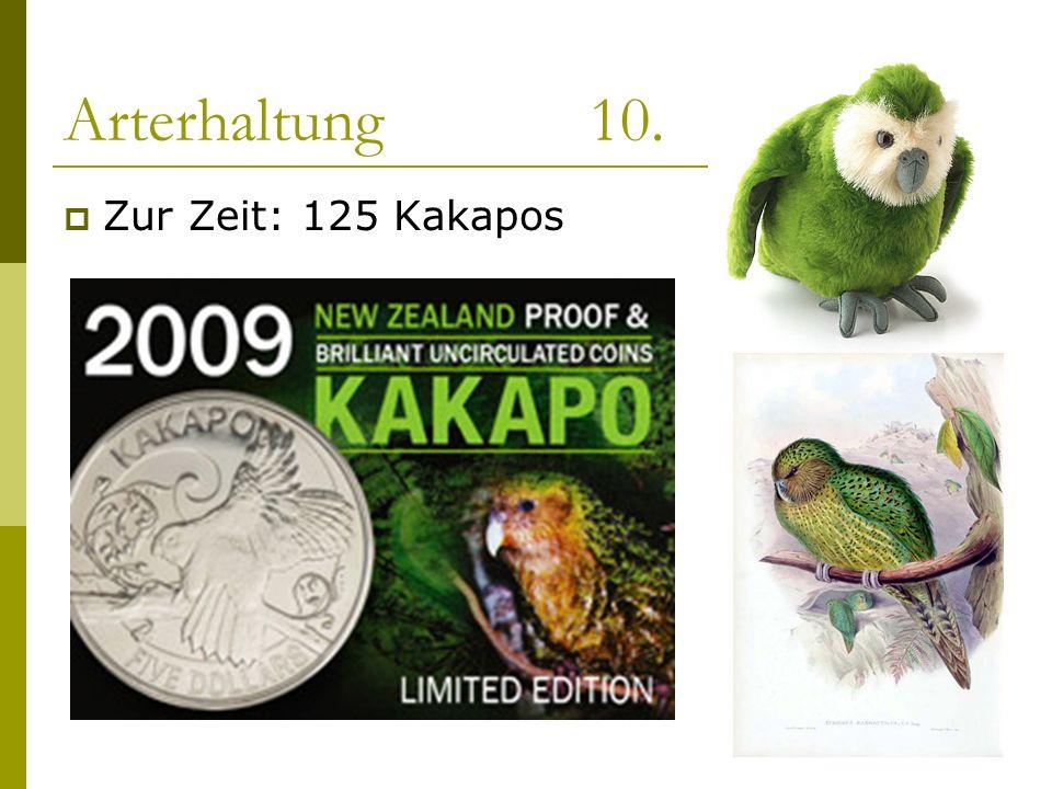 Arterhaltung 10. Zur Zeit: 125 Kakapos