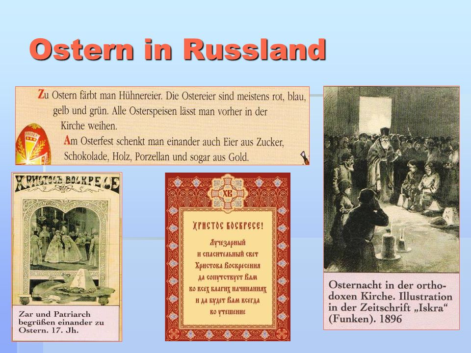 Ostern in Russland