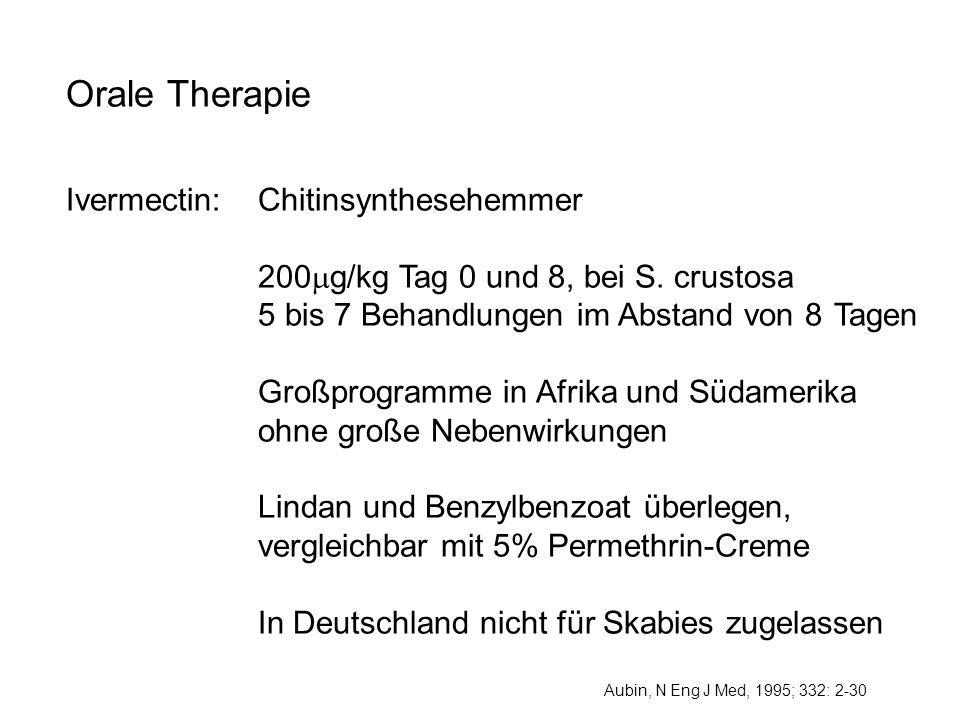Orale Therapie Ivermectin: Chitinsynthesehemmer