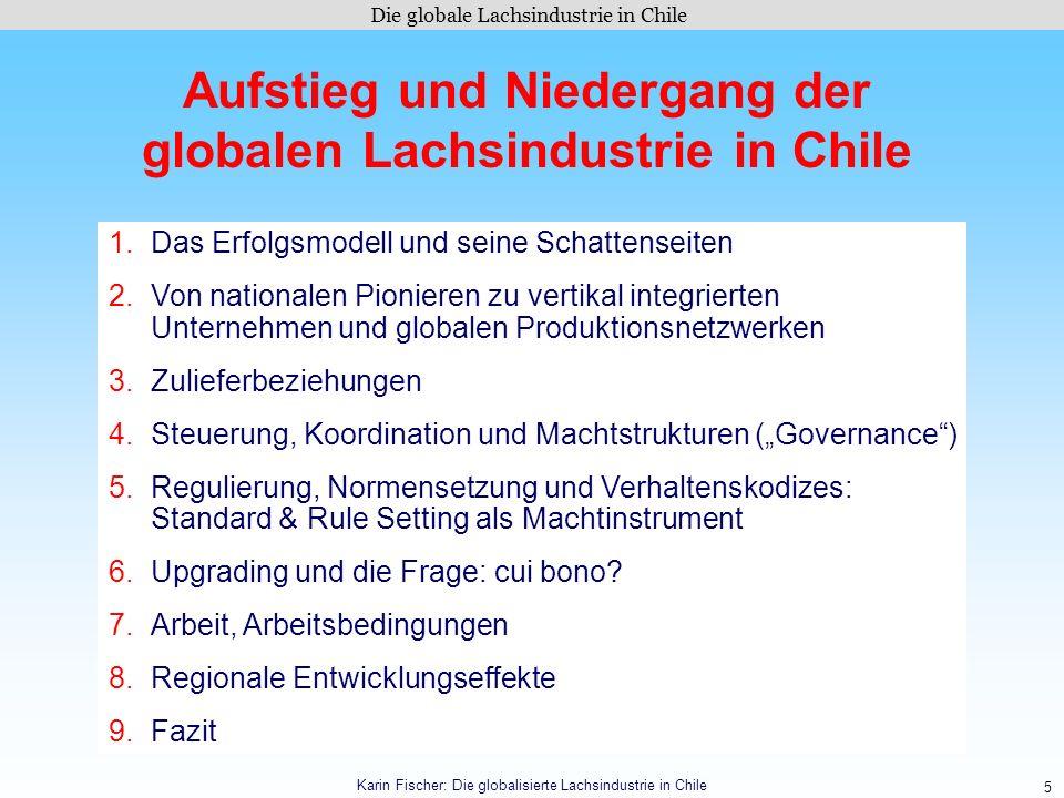 Aufstieg und Niedergang der globalen Lachsindustrie in Chile