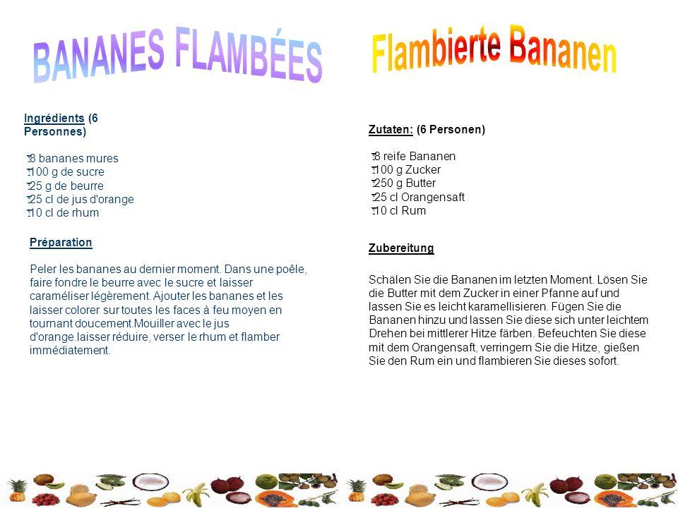 BANANES FLAMBÉES Flambierte Bananen