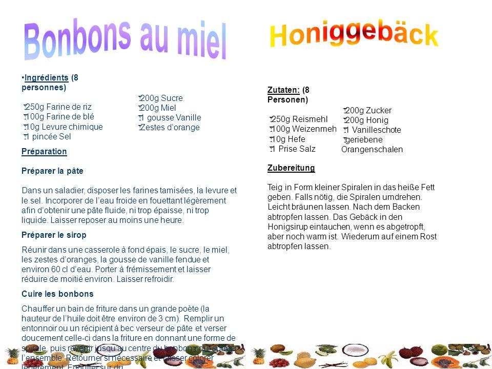 Bonbons au miel Honiggebäck