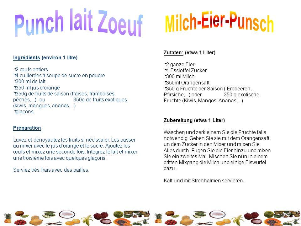 Punch lait Zoeuf Milch-Eier-Punsch