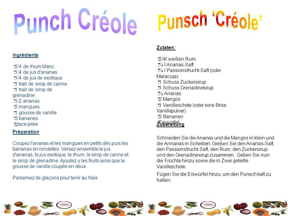 Punch Créole Punsch 'Créole'
