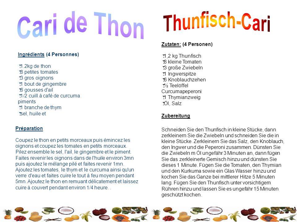 Cari de Thon Thunfisch-Cari