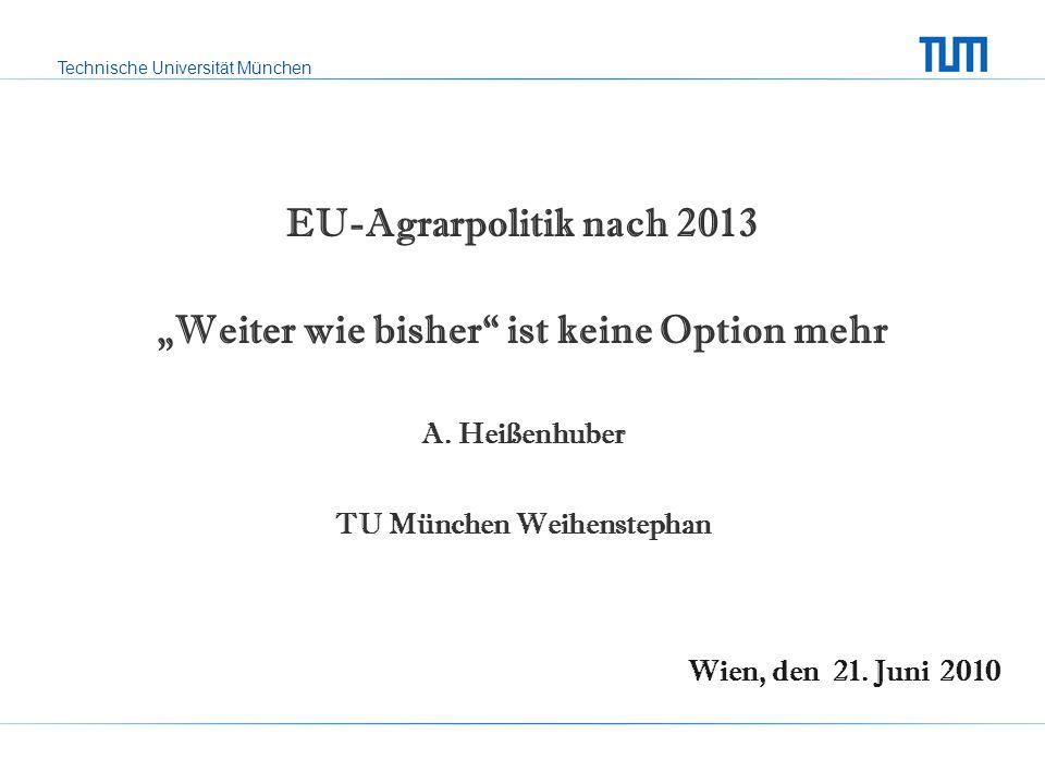 """""""Weiter wie bisher ist keine Option mehr TU München Weihenstephan"""
