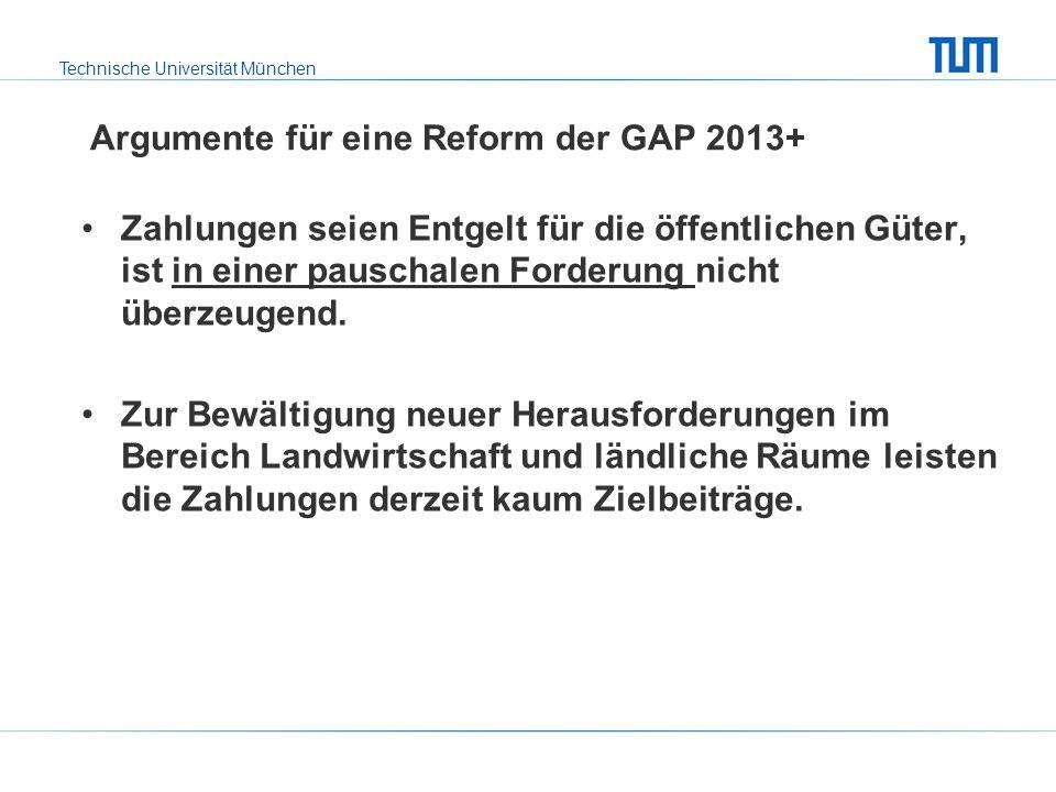 Argumente für eine Reform der GAP 2013+
