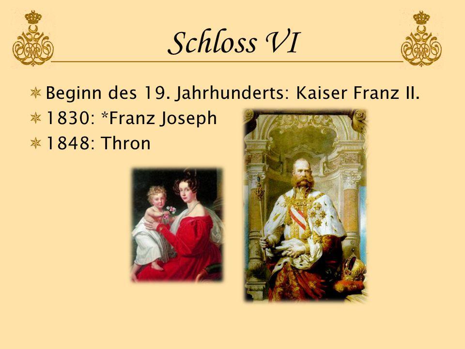 Schloss VI Beginn des 19. Jahrhunderts: Kaiser Franz II.