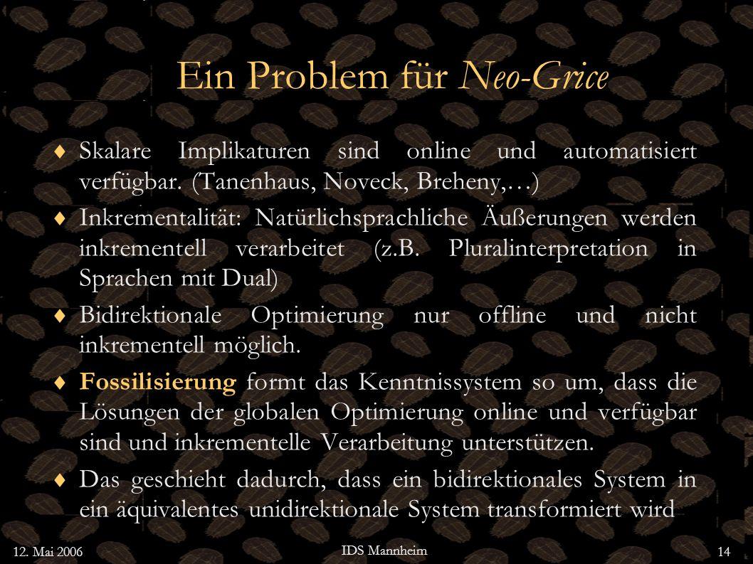Ein Problem für Neo-Grice