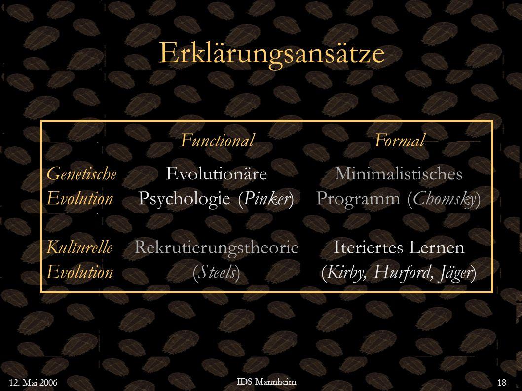 Erklärungsansätze Functional Formal Genetische Evolution