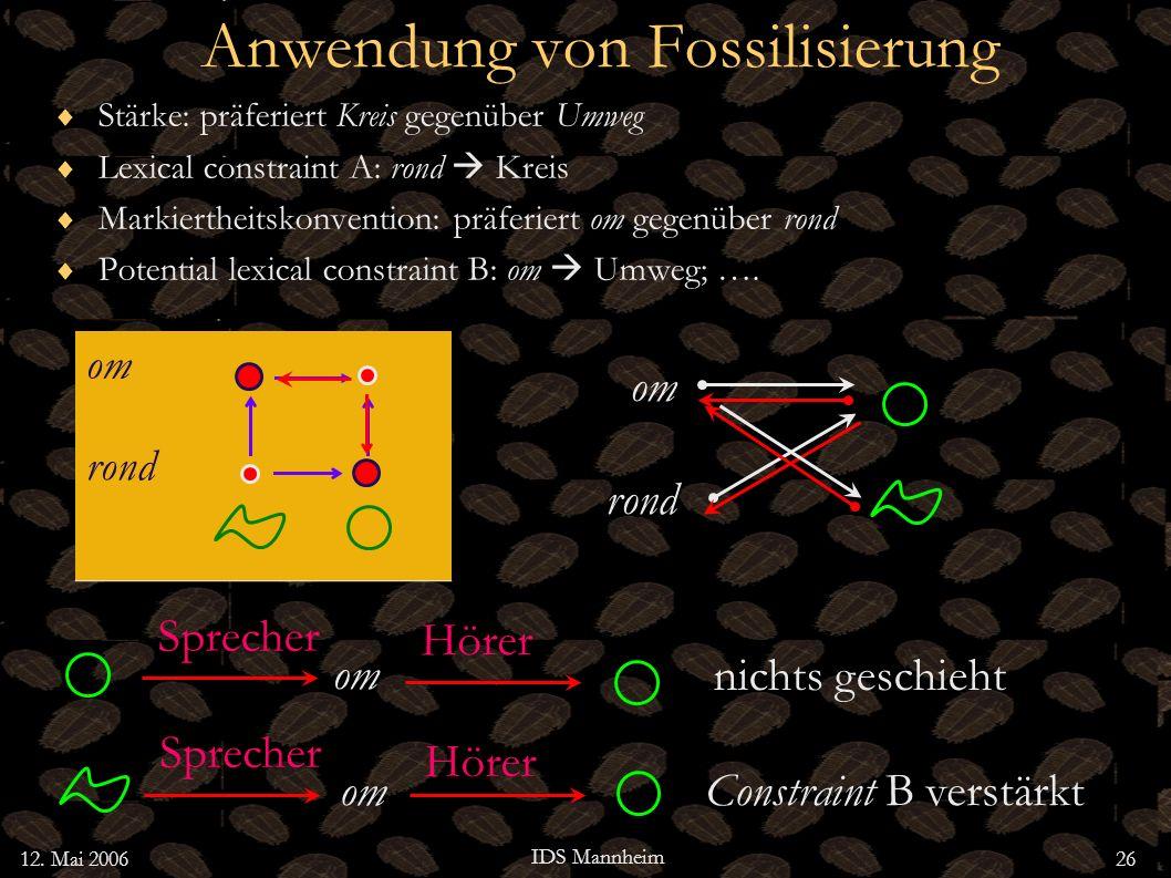 Anwendung von Fossilisierung