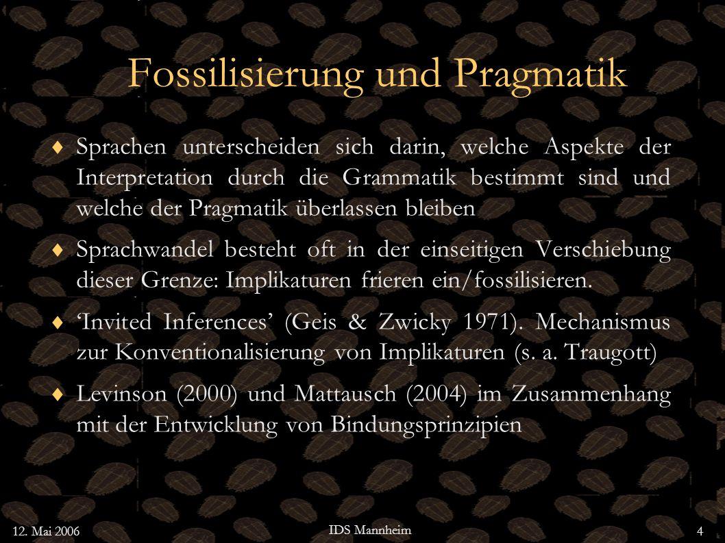 Fossilisierung und Pragmatik