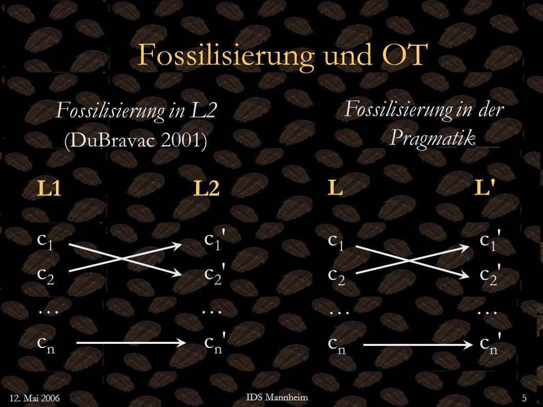 Fossilisierung in der Pragmatik