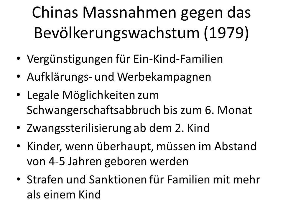 Chinas Massnahmen gegen das Bevölkerungswachstum (1979)