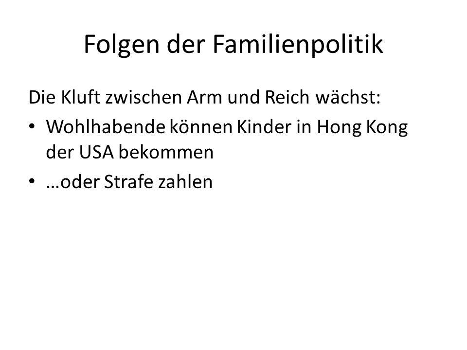 Folgen der Familienpolitik
