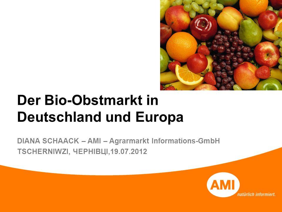 Der Bio-Obstmarkt in Deutschland und Europa