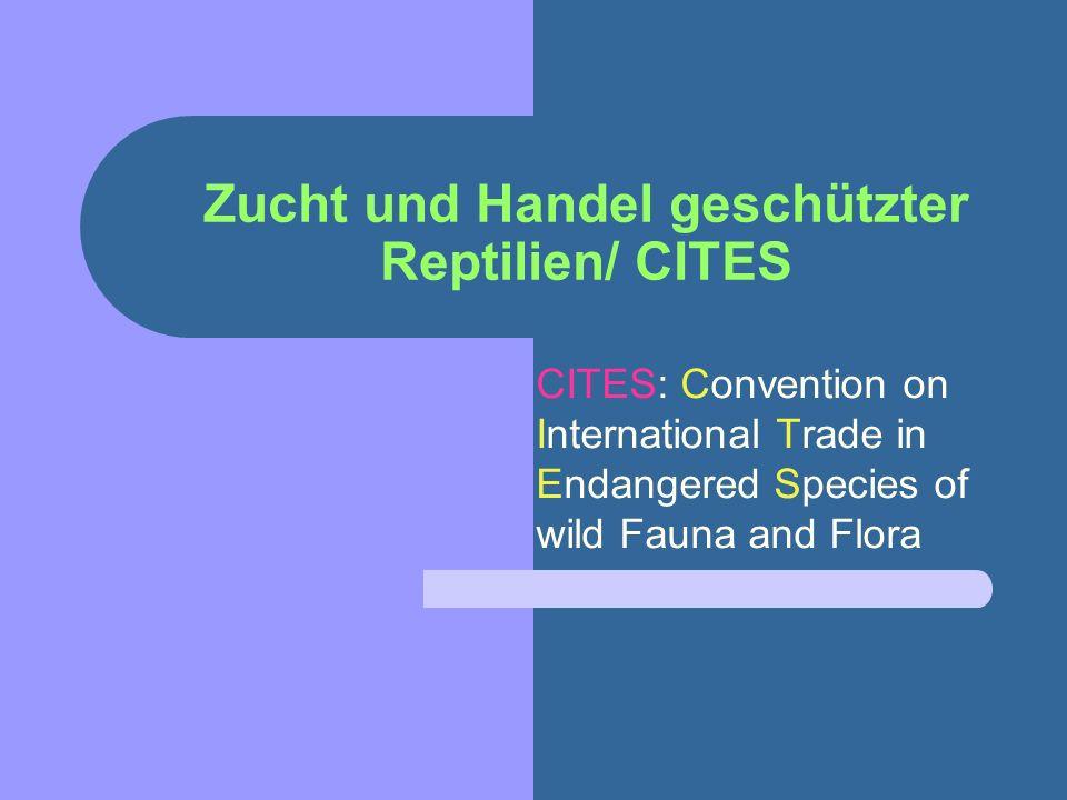Zucht und Handel geschützter Reptilien/ CITES