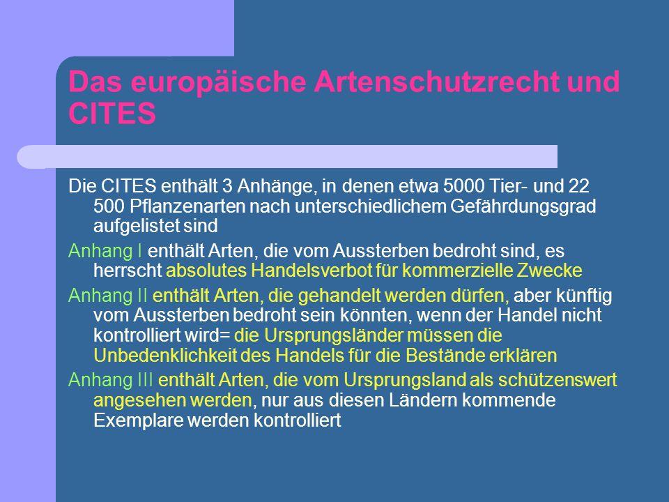Das europäische Artenschutzrecht und CITES