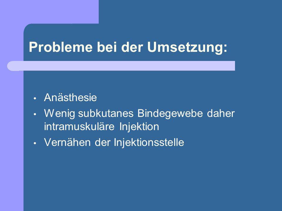 Probleme bei der Umsetzung: