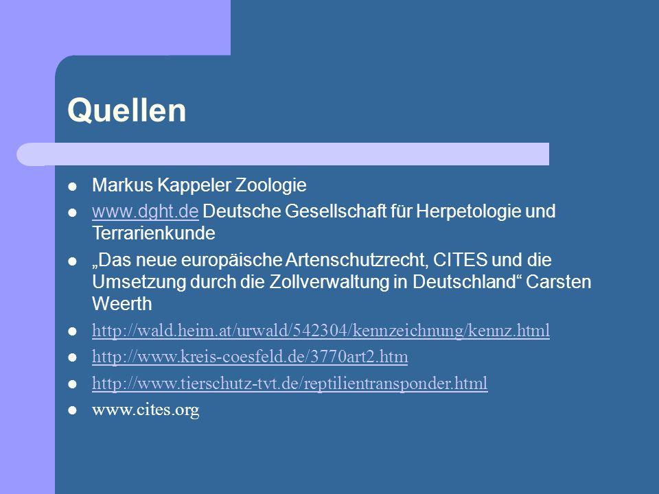 Quellen Markus Kappeler Zoologie