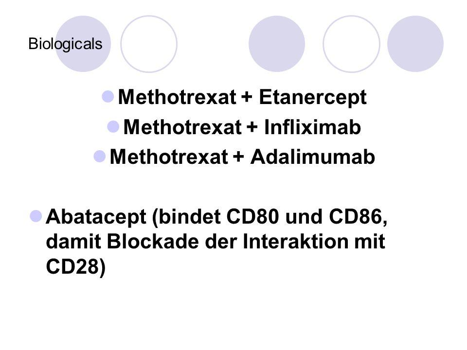 Methotrexat + Etanercept Methotrexat + Infliximab