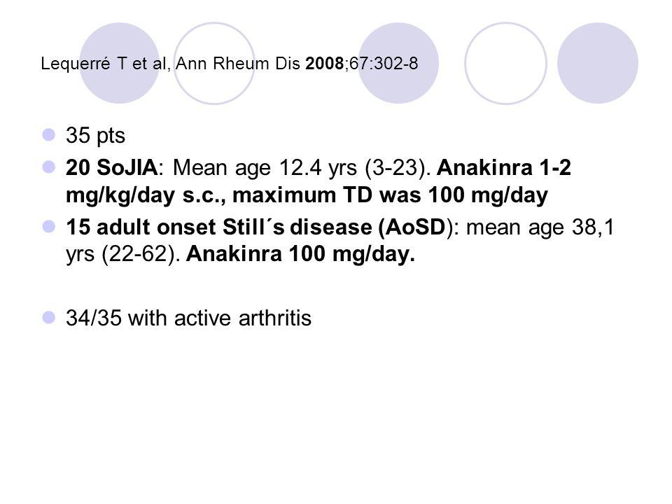 Lequerré T et al, Ann Rheum Dis 2008;67:302-8