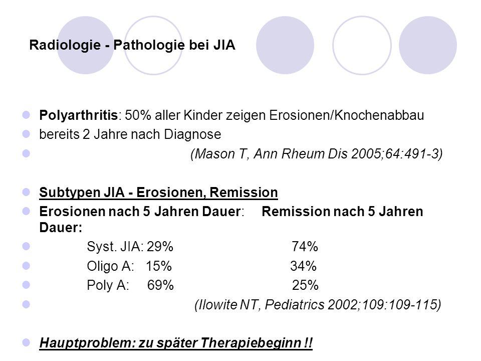 Radiologie - Pathologie bei JIA