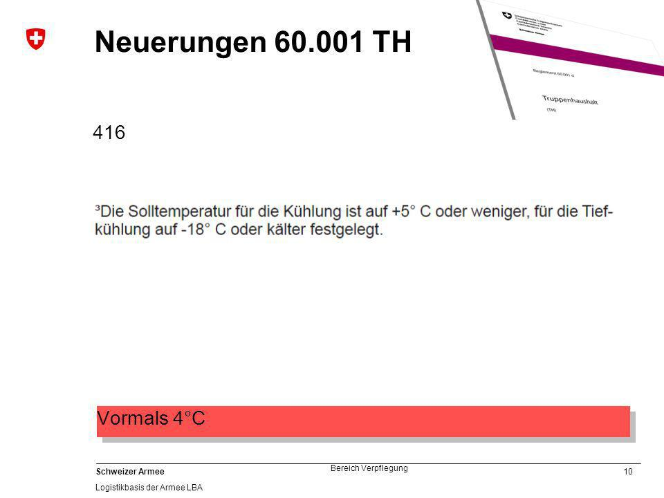 Neuerungen 60.001 TH 416 Vormals 4°C