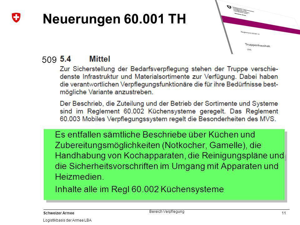 Neuerungen 60.001 TH 509.