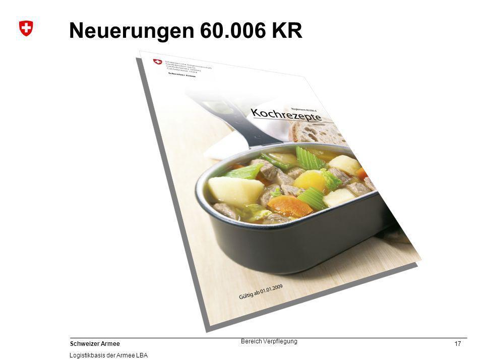 Neuerungen 60.006 KR