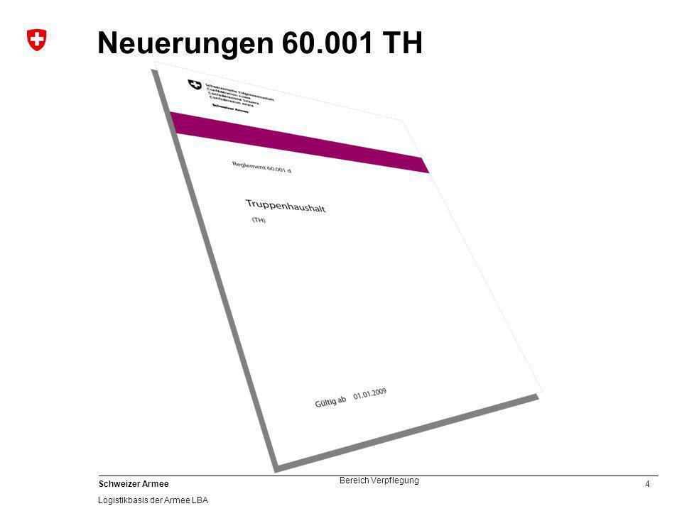 Neuerungen 60.001 TH
