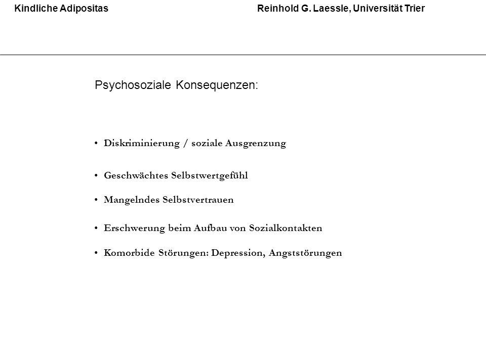 Psychosoziale Konsequenzen: