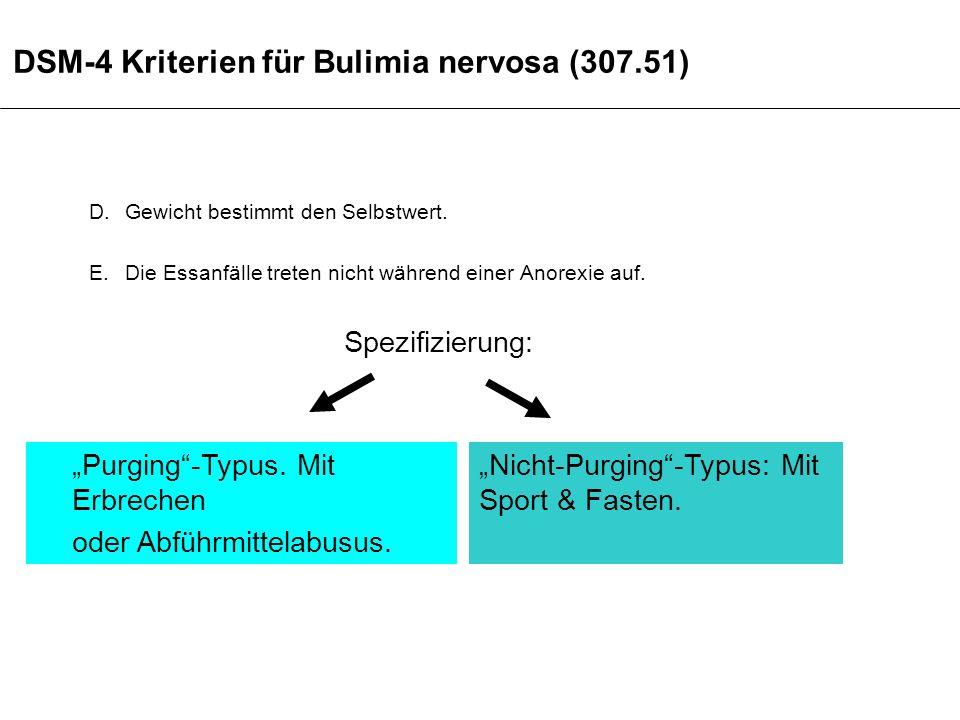 DSM-4 Kriterien für Bulimia nervosa (307.51)