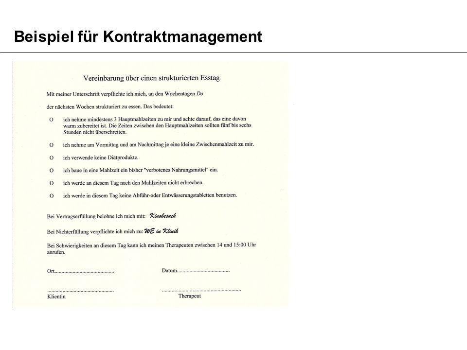 Beispiel für Kontraktmanagement