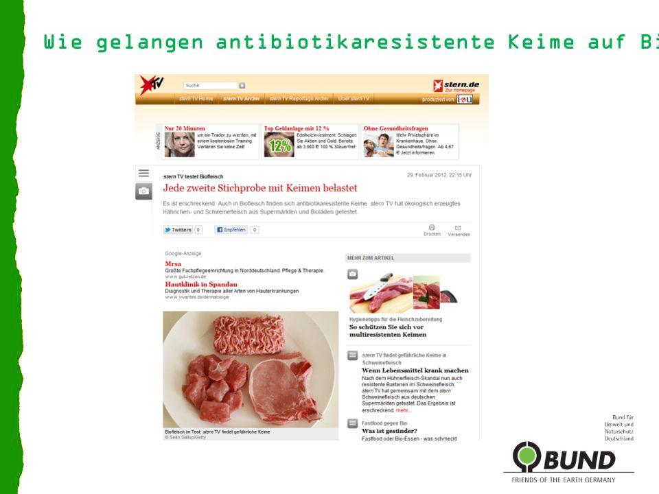 Wie gelangen antibiotikaresistente Keime auf Biofleisch