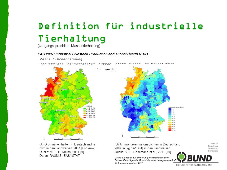 Definition für industrielle Tierhaltung