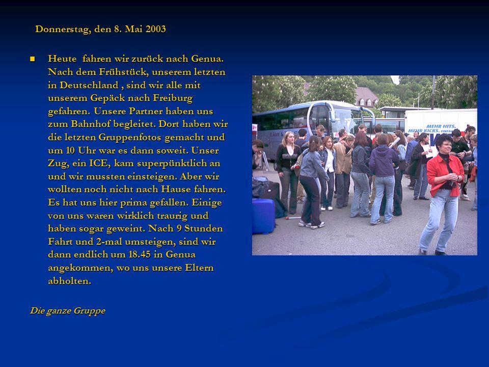 Donnerstag, den 8. Mai 2003