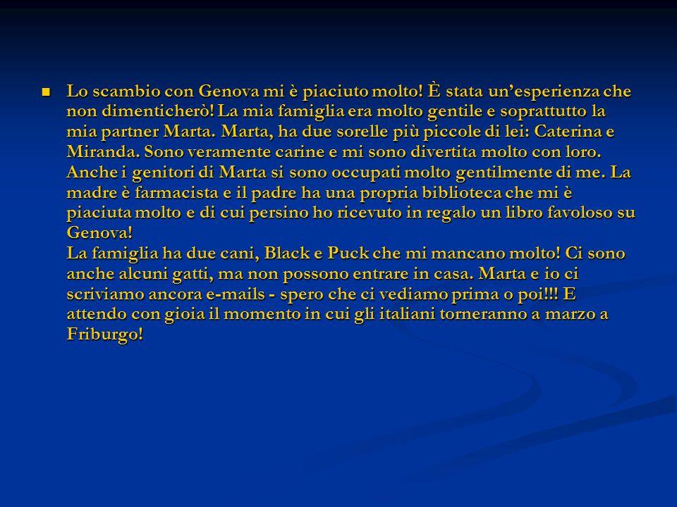 Lo scambio con Genova mi è piaciuto molto